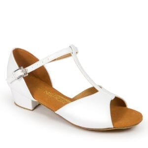 Girls White Latin Shoe