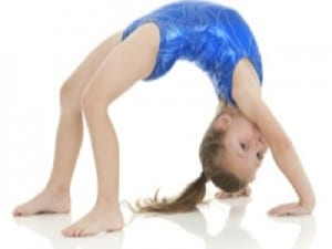 Gymnastic Dance Young Girl in Crab