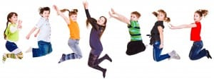 Children Jumping and Dancing